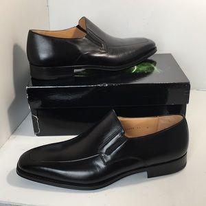 Magnanni Fabricio Black Leather Men's Loafer 13 W